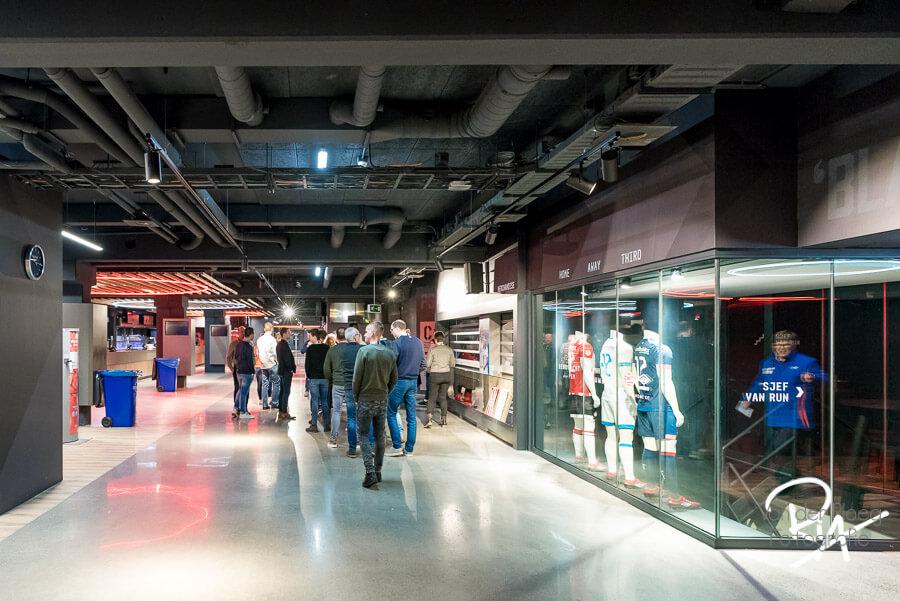 Fotograaf rondleiding PSV stadion