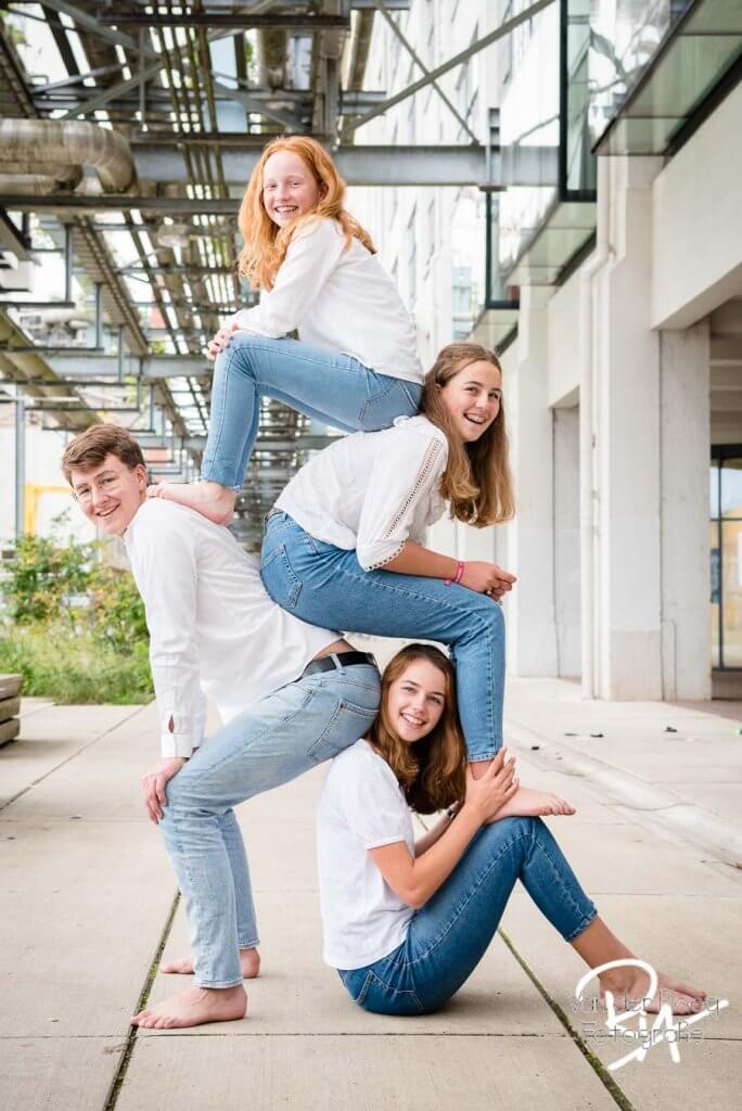 fotografie tieners Eindhoven kinderen stapelen
