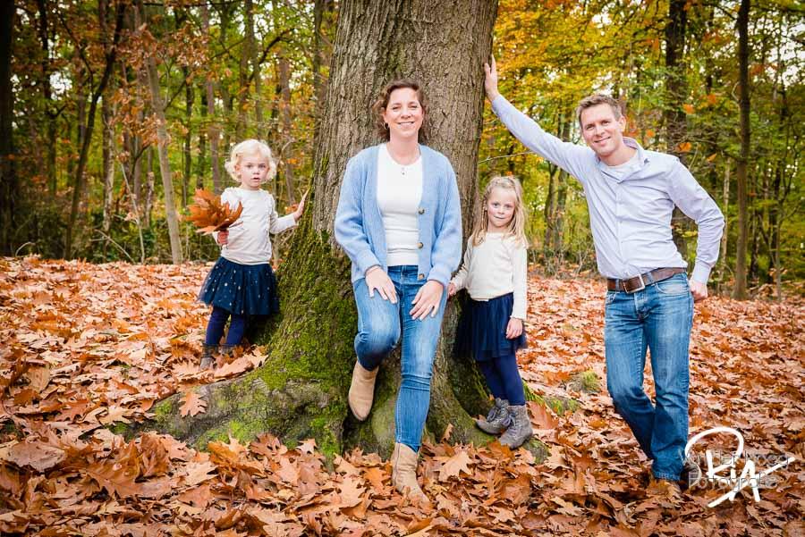 fotoshoot gezin natuur buiten herfst Waalre Valkenswaard